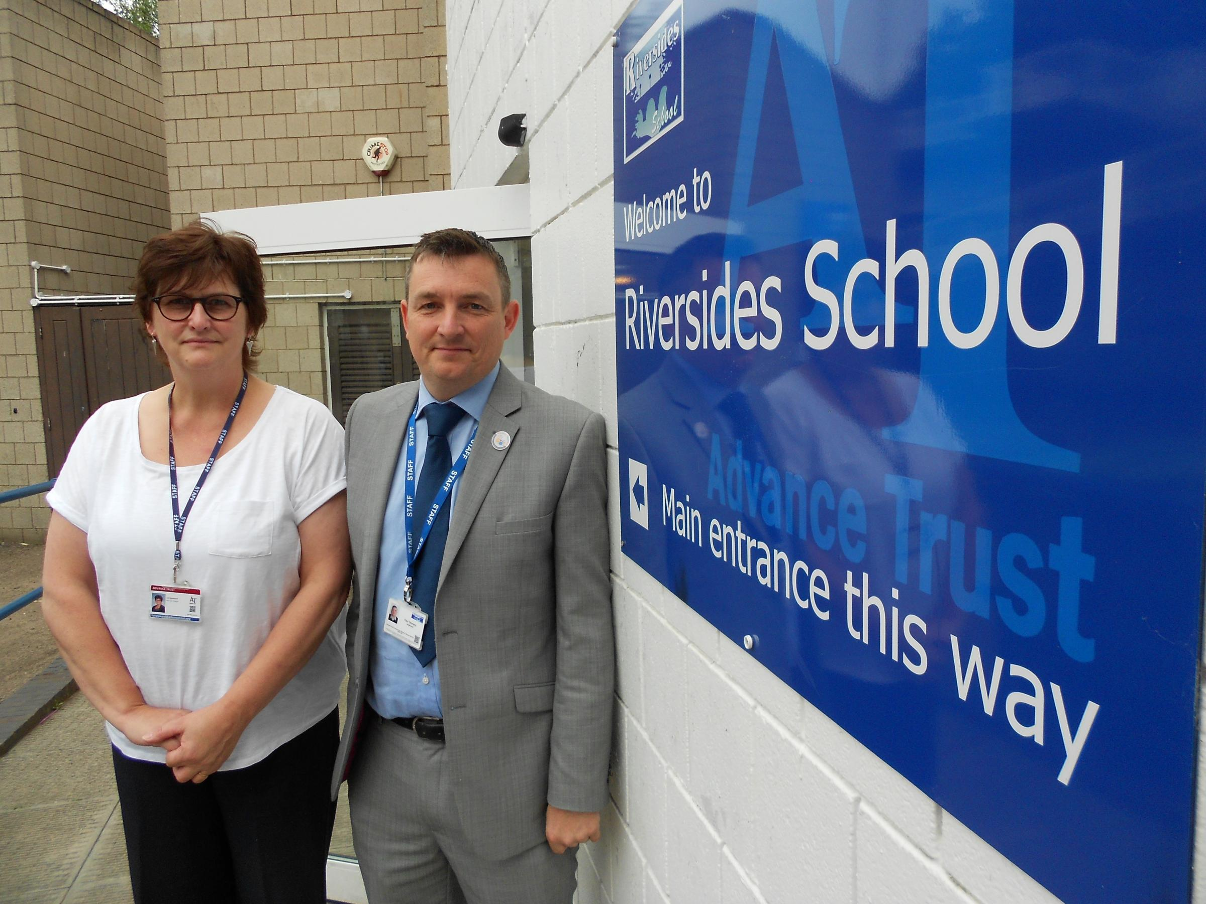 APPEAL FOR HELP: Riversides School headteacher Paul Yeomans (right) and executive principal Liz Hayward (left)