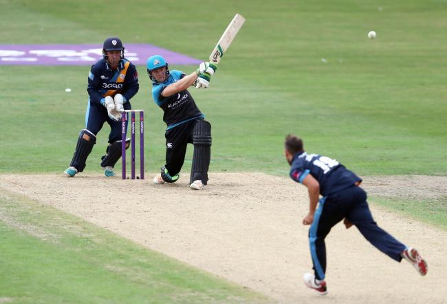 CRICKET: Worcestershire Rapids' Ben Cox batting during the NatWest T20 Blast match at New Road, Worcester