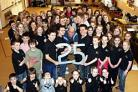 David Humphries and members of WODYS celebrate 25 years