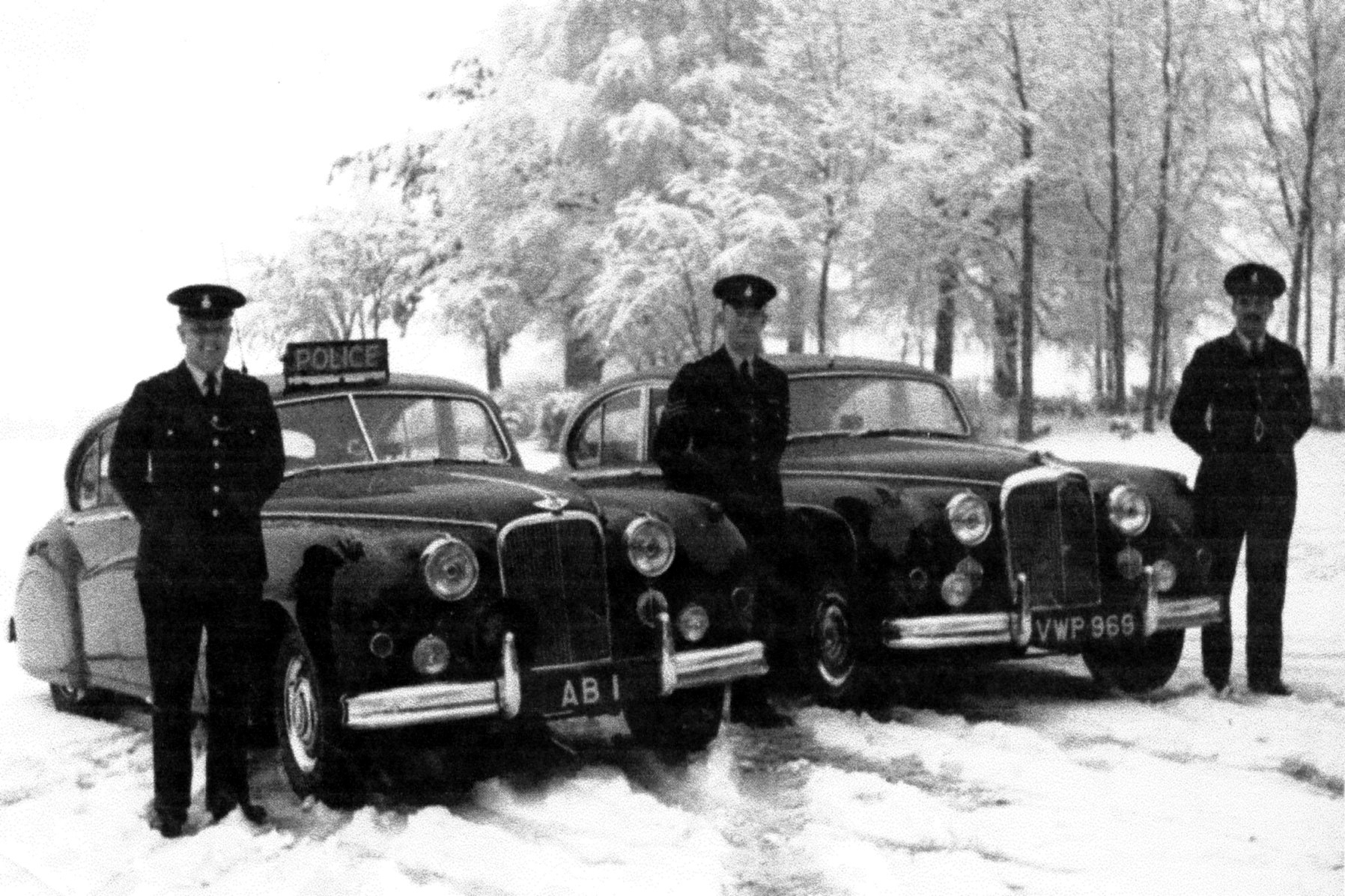 ICONIC: The AB 1 number plate was feared by police officers across the area.