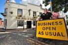 David Webb, landlord of the Star and Garter pub, High Street, Droitwich, is worried constant roadworks will force his pub to close. Photo: Jonathan Barry