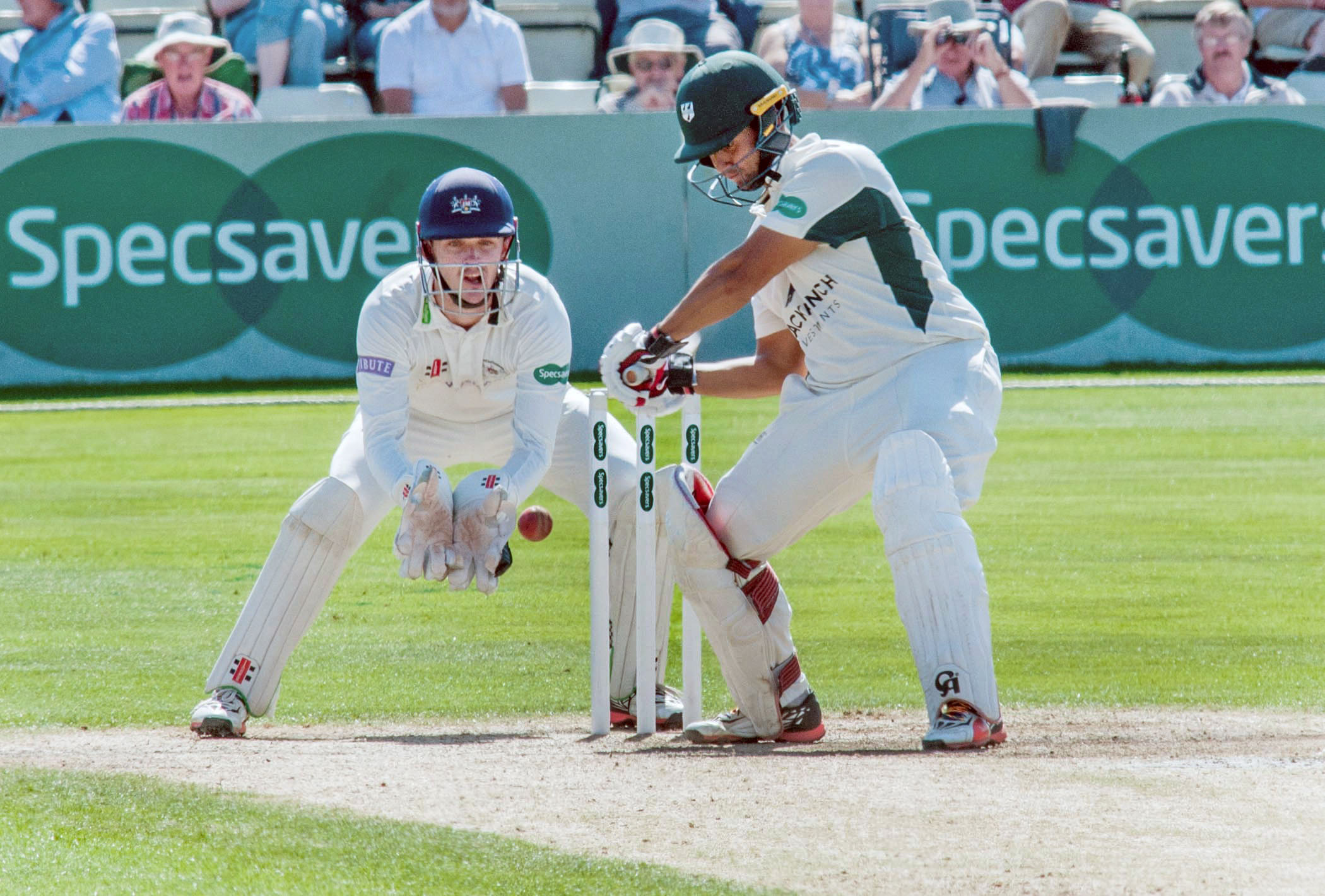 Opener Brett D'Oliveira on his way to 93 runs for Worcestershire against Gloucestershire