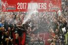 Hull FC lift the Challenge Cup