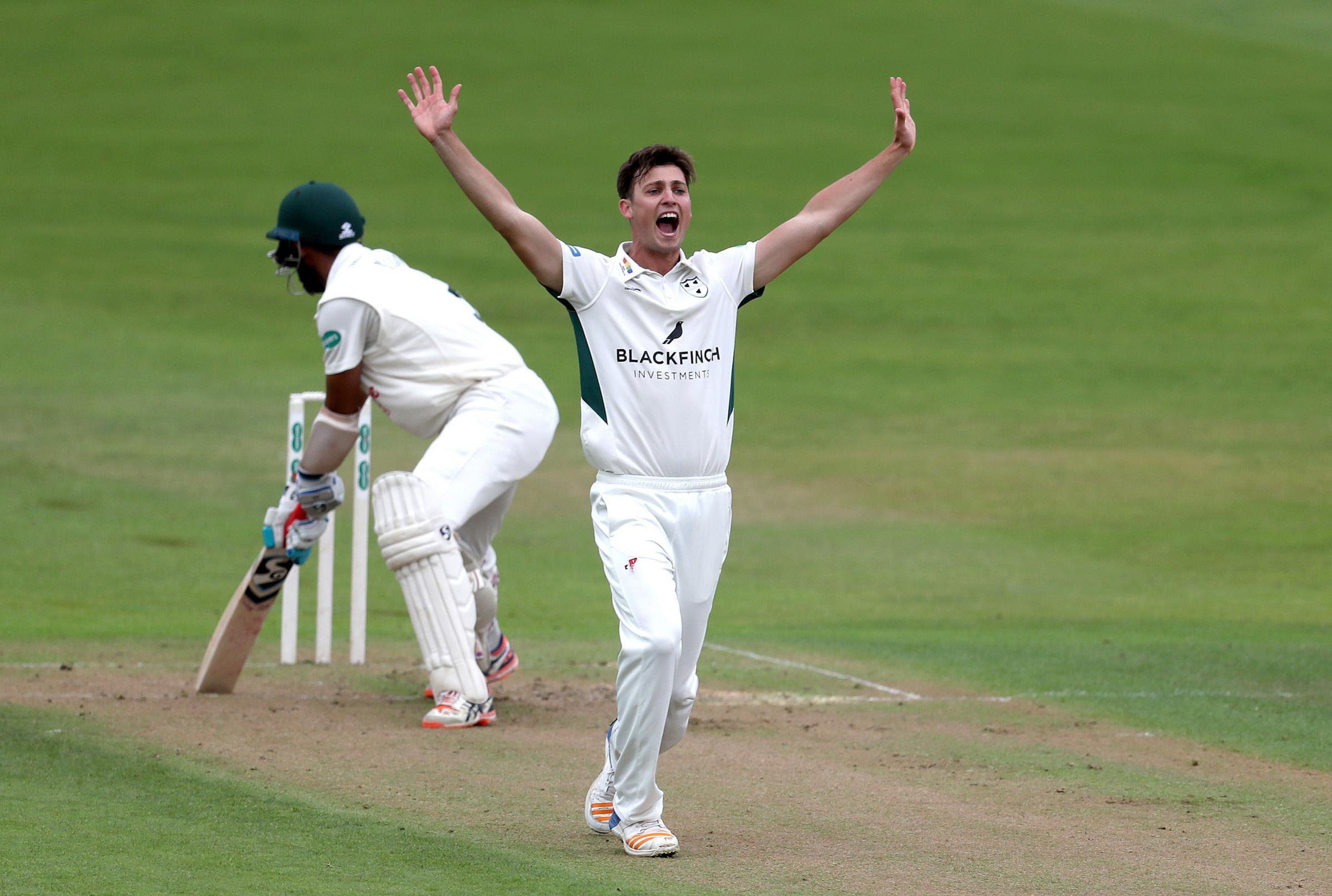 Worcestershire's Ed Barnard appeals for a wicket as he claims another four victims at leaders Nottinghamshire. Picture: SIMON COOPER/PA WIRE