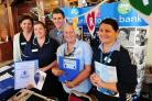 The Worcester News Jobs and Careers fair, held at the Guildhall, Worcester.....Nursing staff and colleagues recruiting for the Bank and Health Trust on their stall at the fair. (From the left) Sarah Needham, Jo Hopkins, Luke Randle, Dawn Tolhurst, Sam Gar