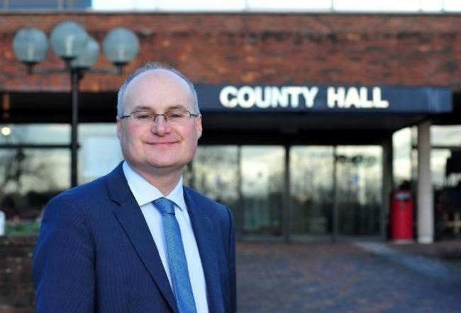 County Council leader Councillor Simon Geraghty