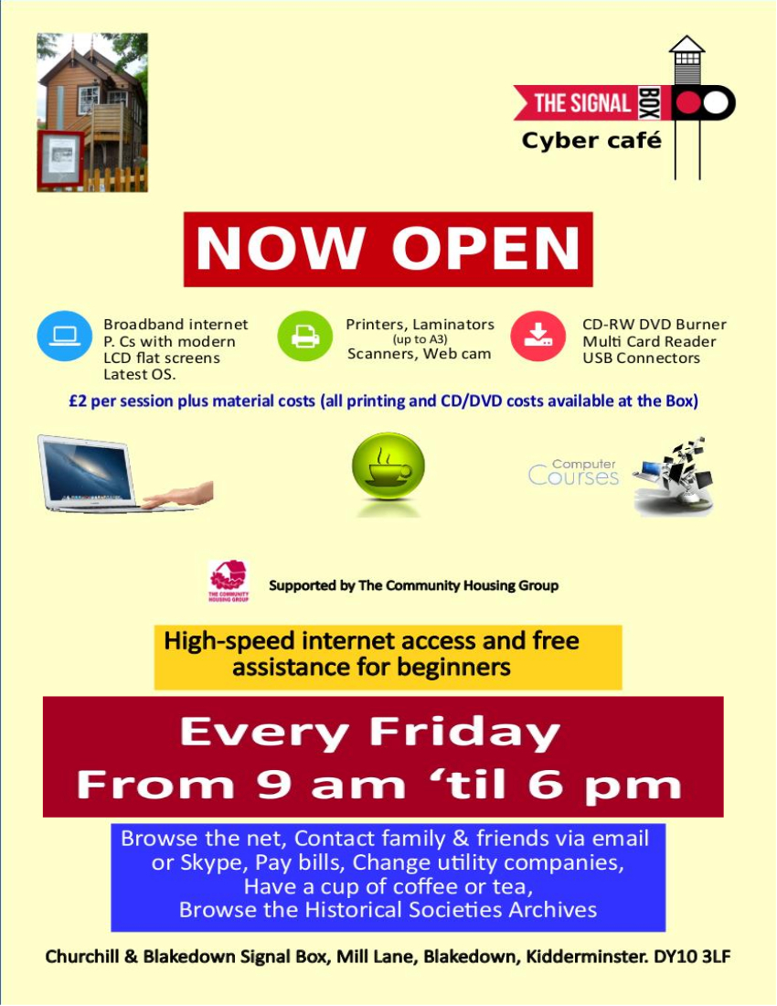 Cyber Cafe at Blakedown Signal Box