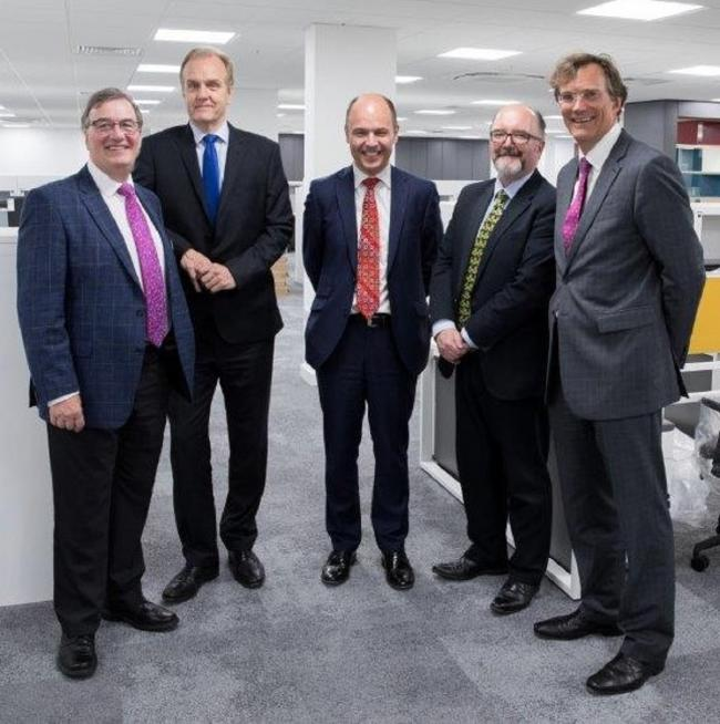 INVESTMENT: Jonathan Brew, Rod Thomas and Robert Capper from Harrison Clark Rickerbys, David Blake from Worcester City Council with Nigel Hudson, from Worcestershire County Council.