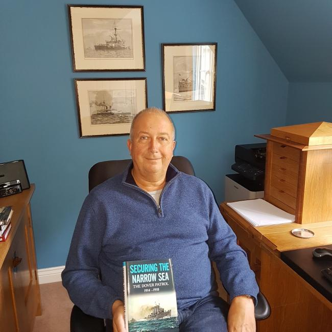 HONOURED: Barnt Green author Steve Dunn is up for the 2017 Mountbatten Maritime Award for his book Securing the Narrow Sea