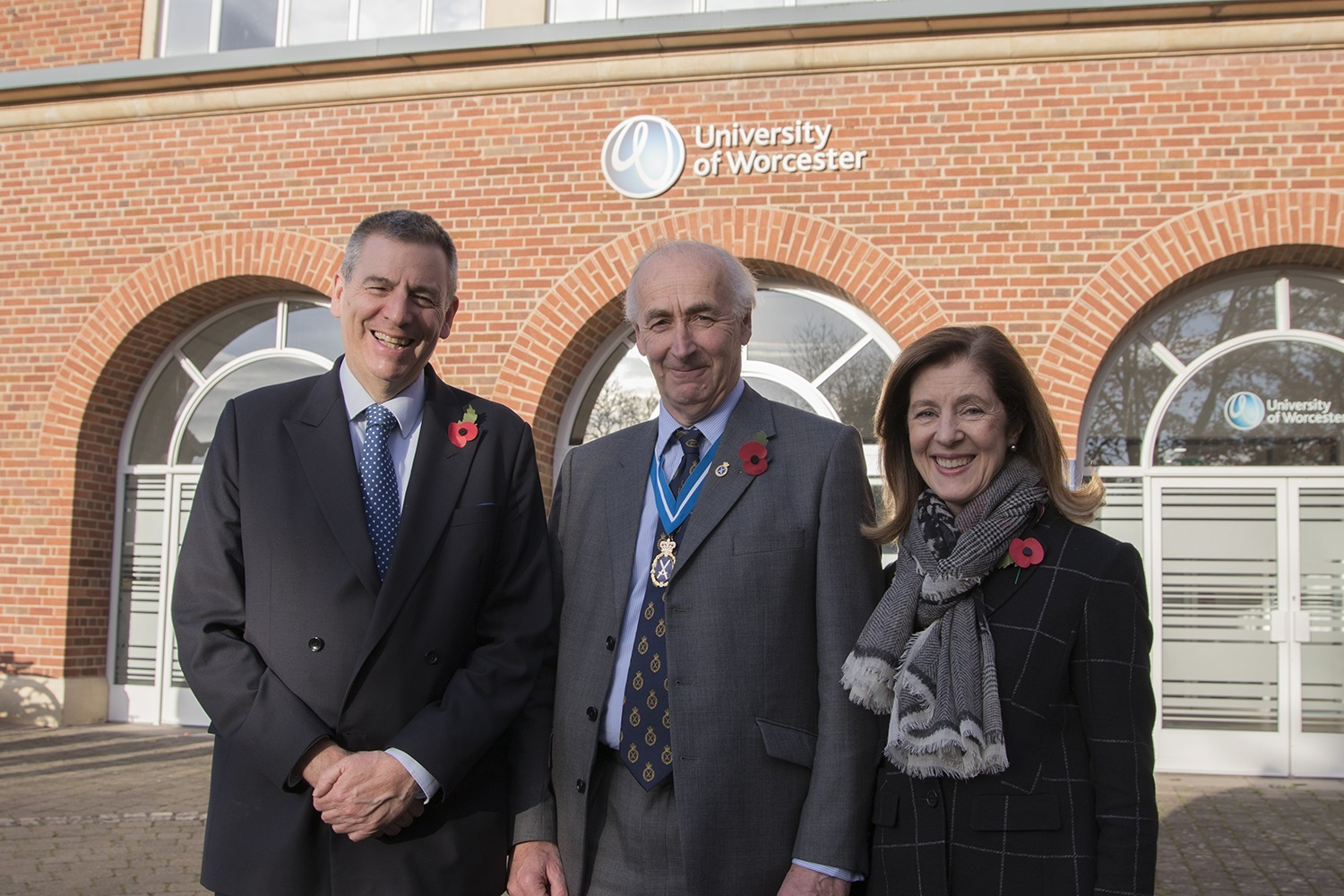 PRAISE: University of Worcester Vice Chancellor, Professor David Green, High Sheriff of Worcestershire, Stephen Betts, and his wife Caroline.