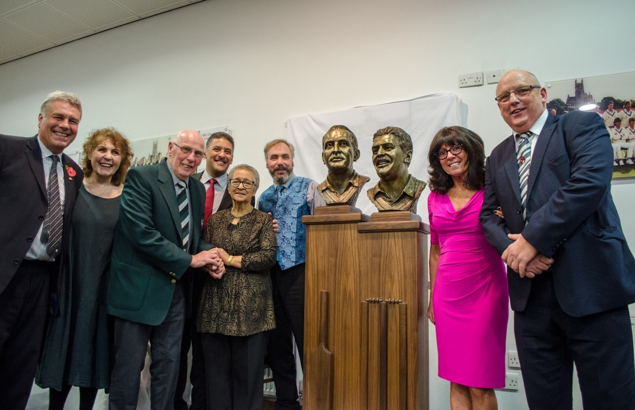 UNVEILED: The  the solid bronze commemorative bust was unveiled at the gala evening.