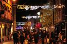 Crowds in Worcester for Christmas Lights switch-on 2017