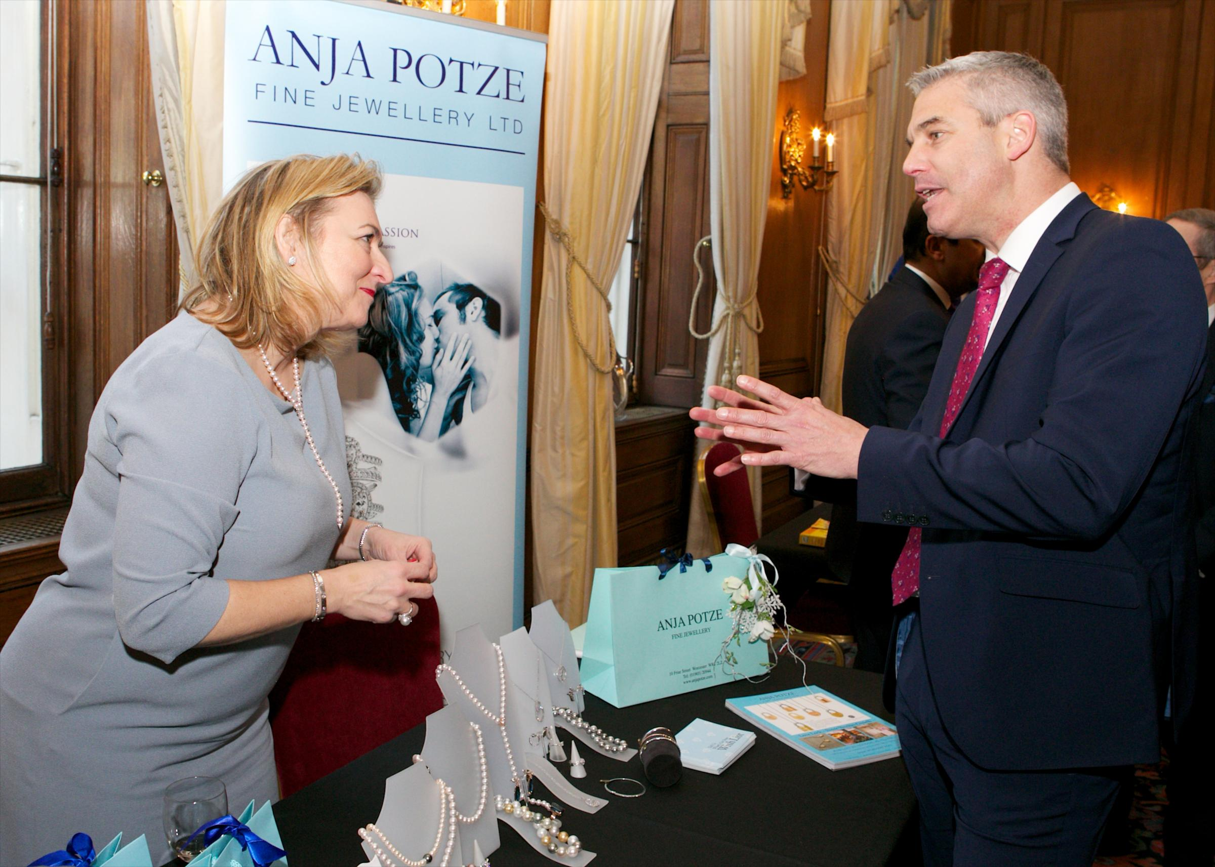 VISIT: Anja Potze visited Downing Street to promote Small Business Saturday, meeting Stephen Barclay MP, Economic Secretary to the Treasury.