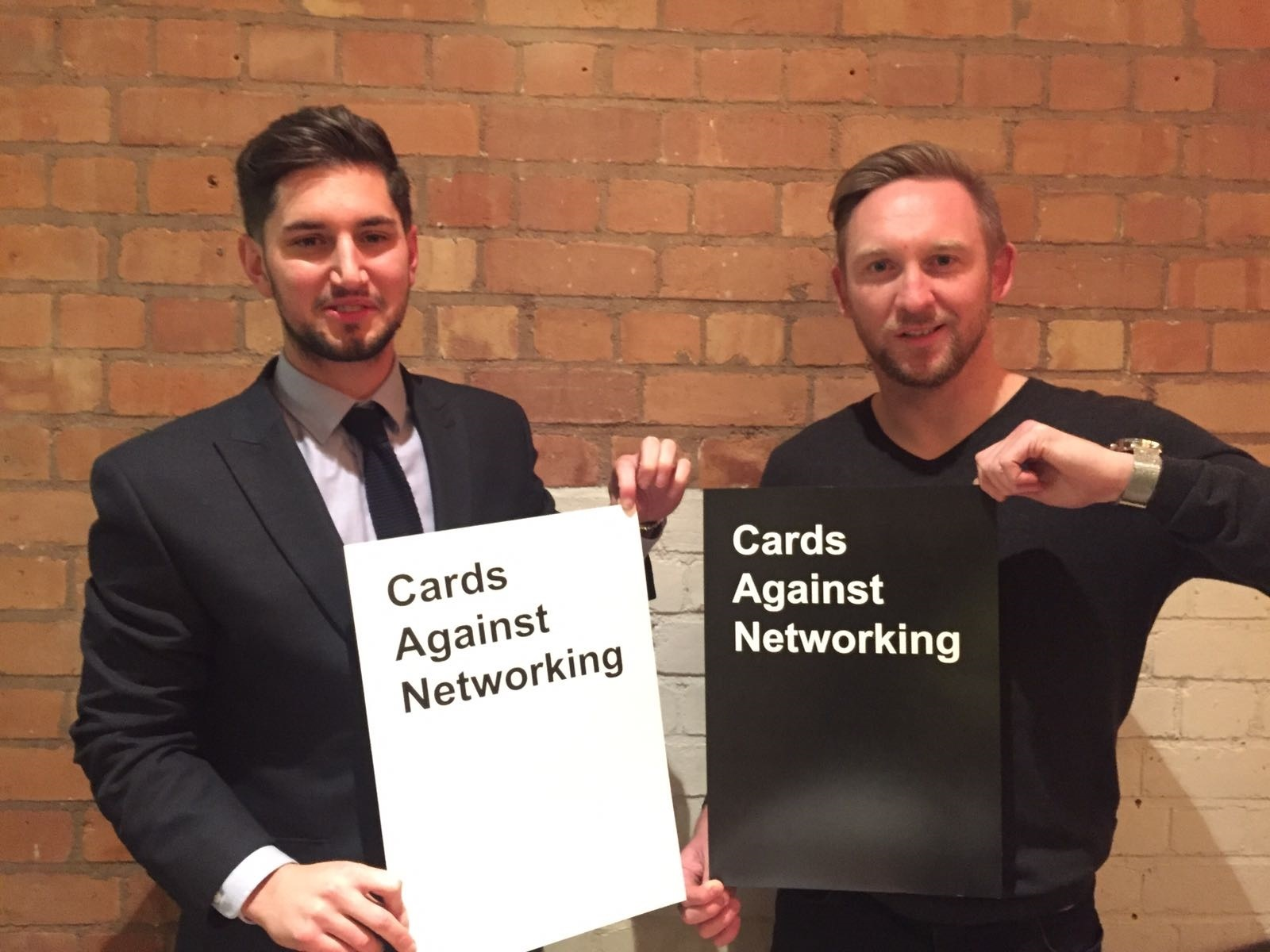 EVENT Richard Hurst, Hursty from Free Radio and local estate agent and marketer Daniel Lewis are running 'Cards Against Networking'.