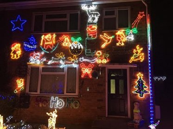 The light display at Beauchamp Road in Malvern.