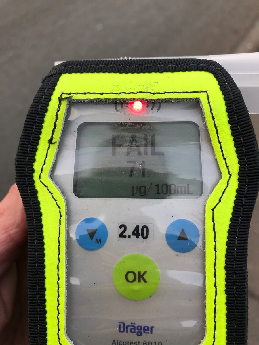 A drink driver was caught twice in 24 hours