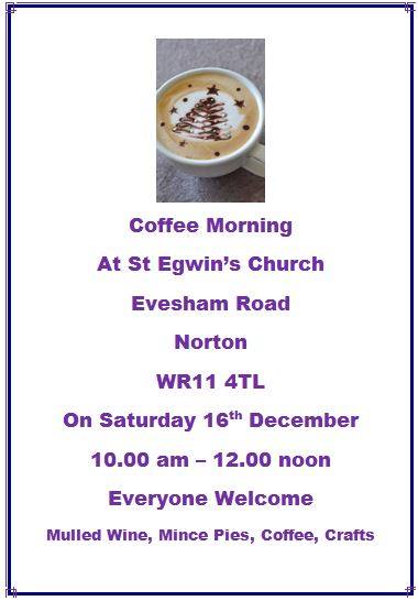 St Egwin's Church Coffee Morning