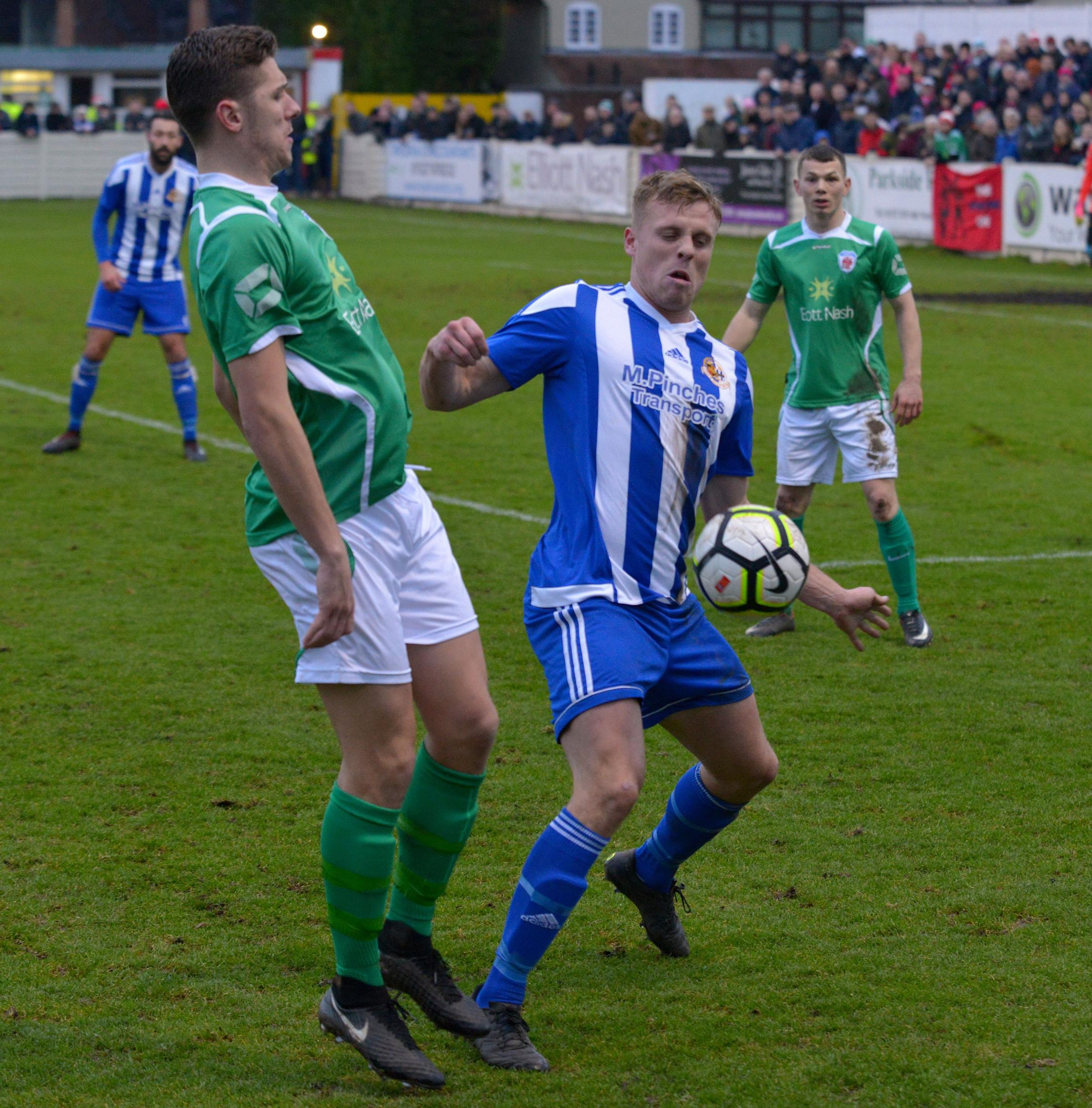 INJURED: Worcester City's Nathan Hayward