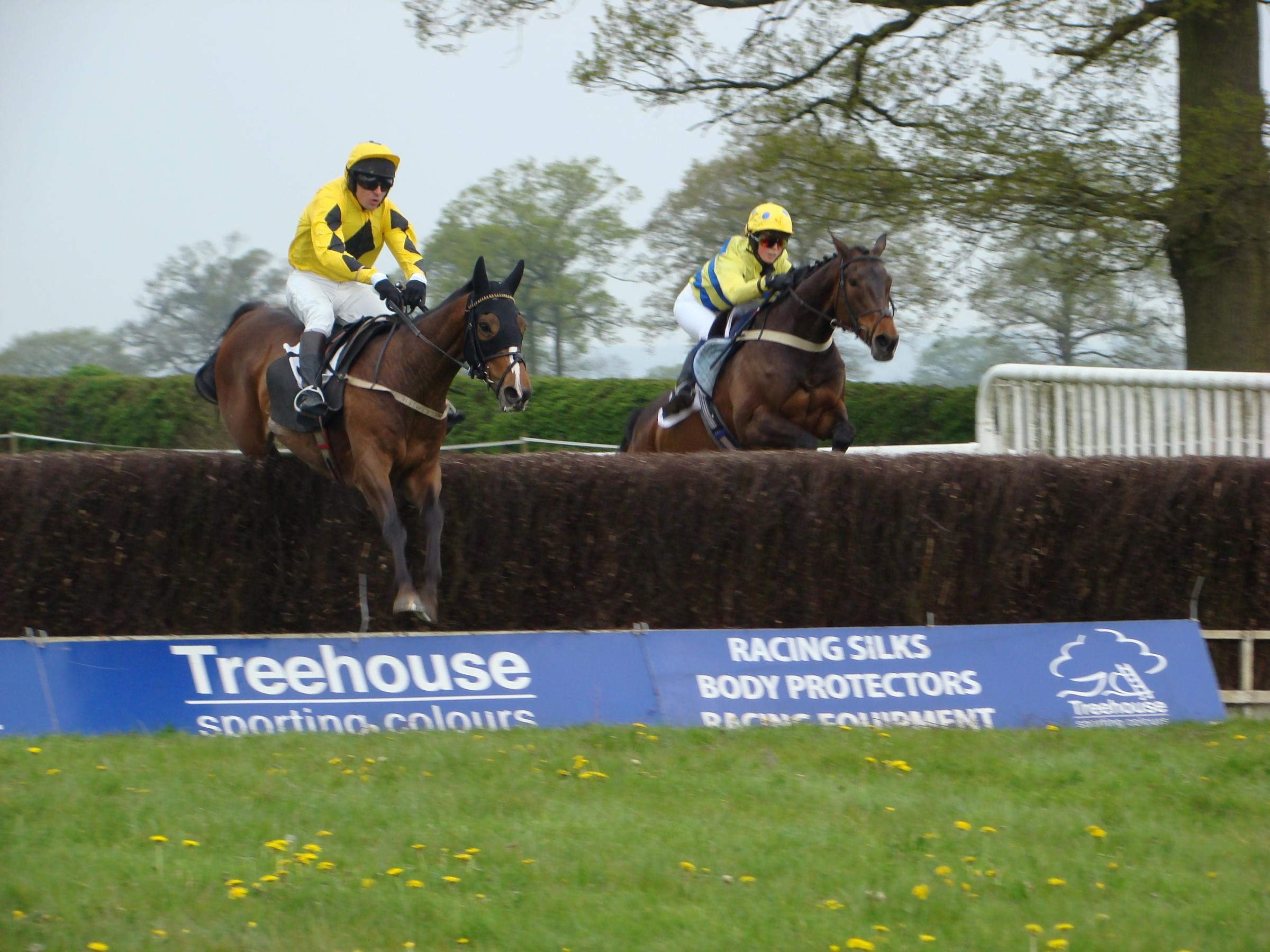 Point-to-point action at Chaddesley Corbett