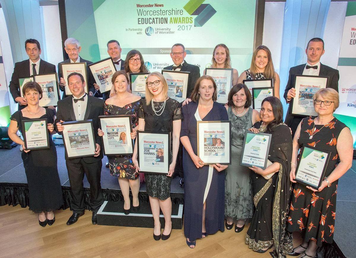 FLASHBACK: Last year's winners and finalists of the Worcestershire Education Award