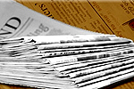 Worcester News: Newspaper Delivery Stack