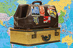 Worcester News: Suitcases with Map