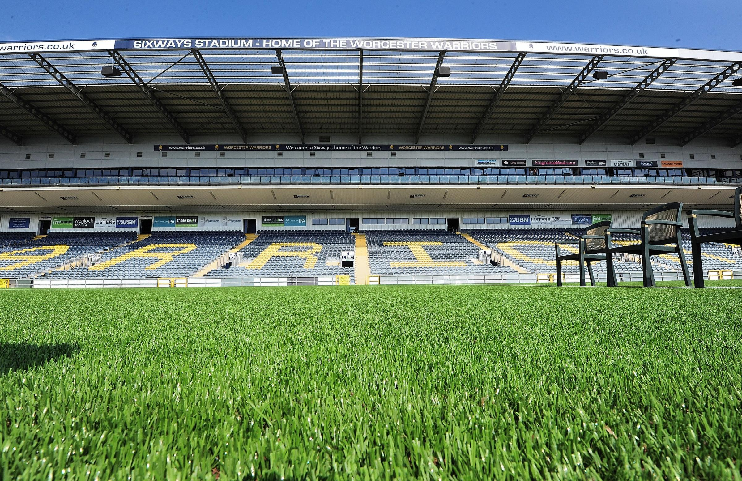 Worcester Warriors Pre Season Photocall at Sixways Stadium........The new sythetic pitch at Sixways...Pic Jonathan Barry 17.8.16  3316071690.