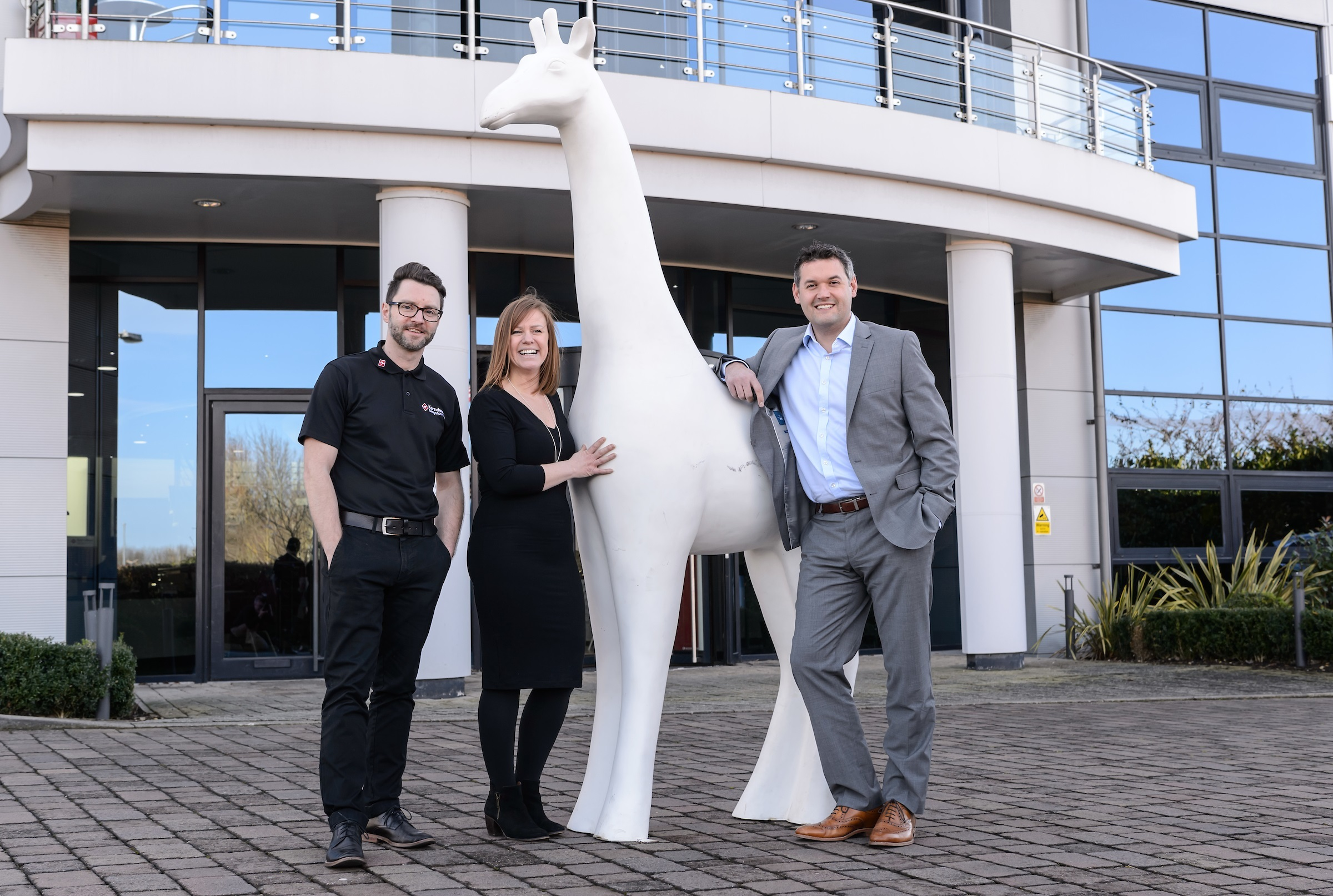 PROJECT: Jay Forrester, showroom manager of Karndean Designflooring, Sara Matthews, Worcester Stands Tall project manager and Paul Barratt, managing director of Karndean Designflooring