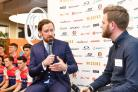 Sir Bradley Wiggins, left, was critical of former employers Team Sky at an event for his own Team Wiggins (John Stillwell/PA)
