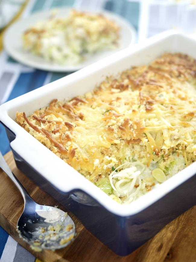 HAIL WALES: Chicken, Leek & Brioche Crumble - a recipe from The British Leek Growers Association. Picture: British Leek Growers Association