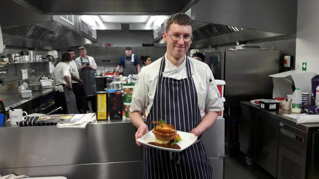 TOP NOSH: Chef at Handley Boweling Green Stephen Turnball reached the finals of the Wadworth annual pie competition. Picture: Wadworth