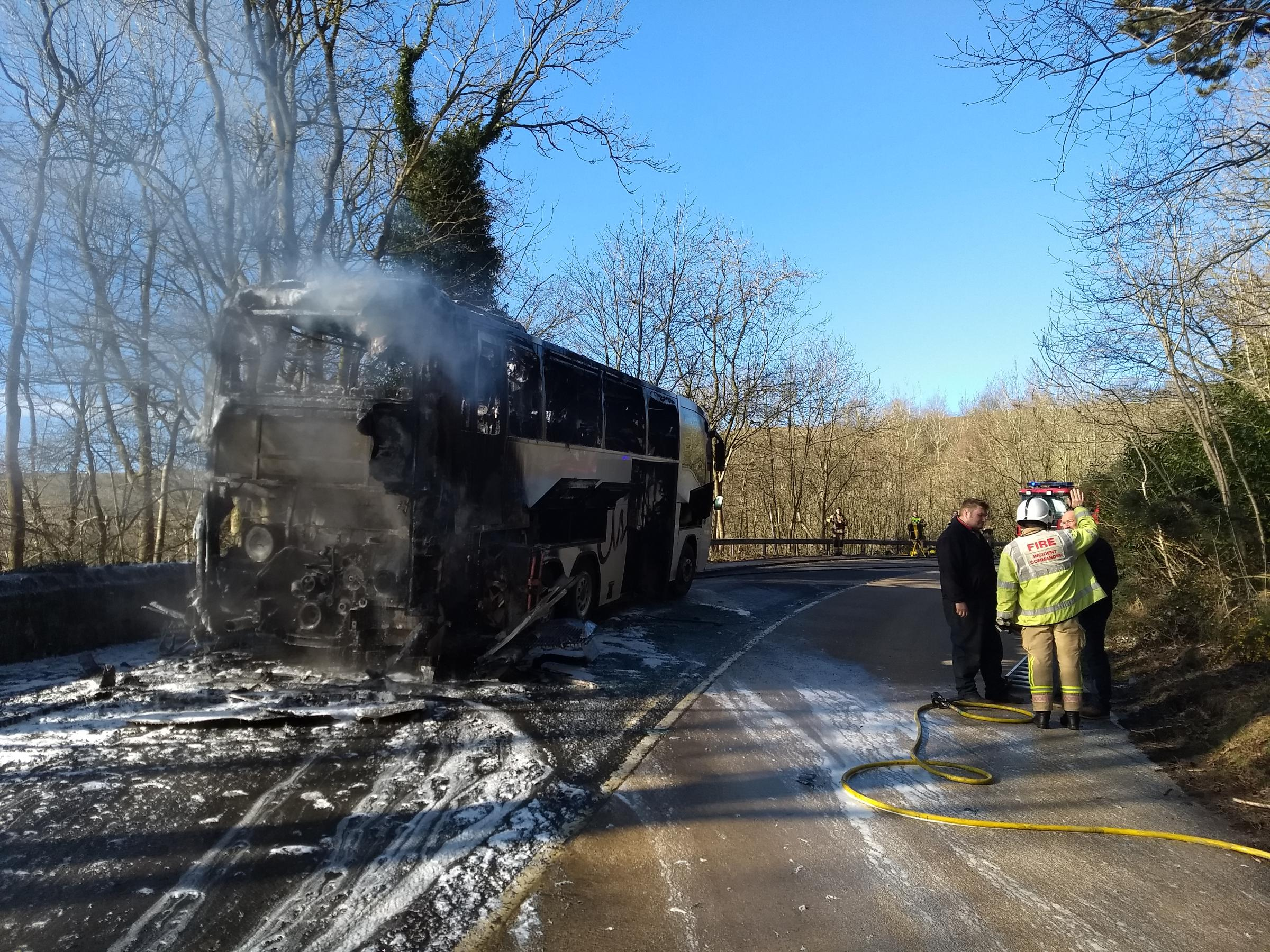 The coach was extensively damaged.