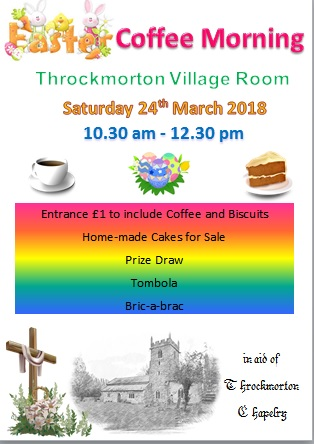 Throckmorton Chapelry Easter Coffee Morning