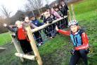 Cyclist Liam Killeen in front of the new play equipment at Stanley Road Primary School. Picture Paul Jackson 50099702