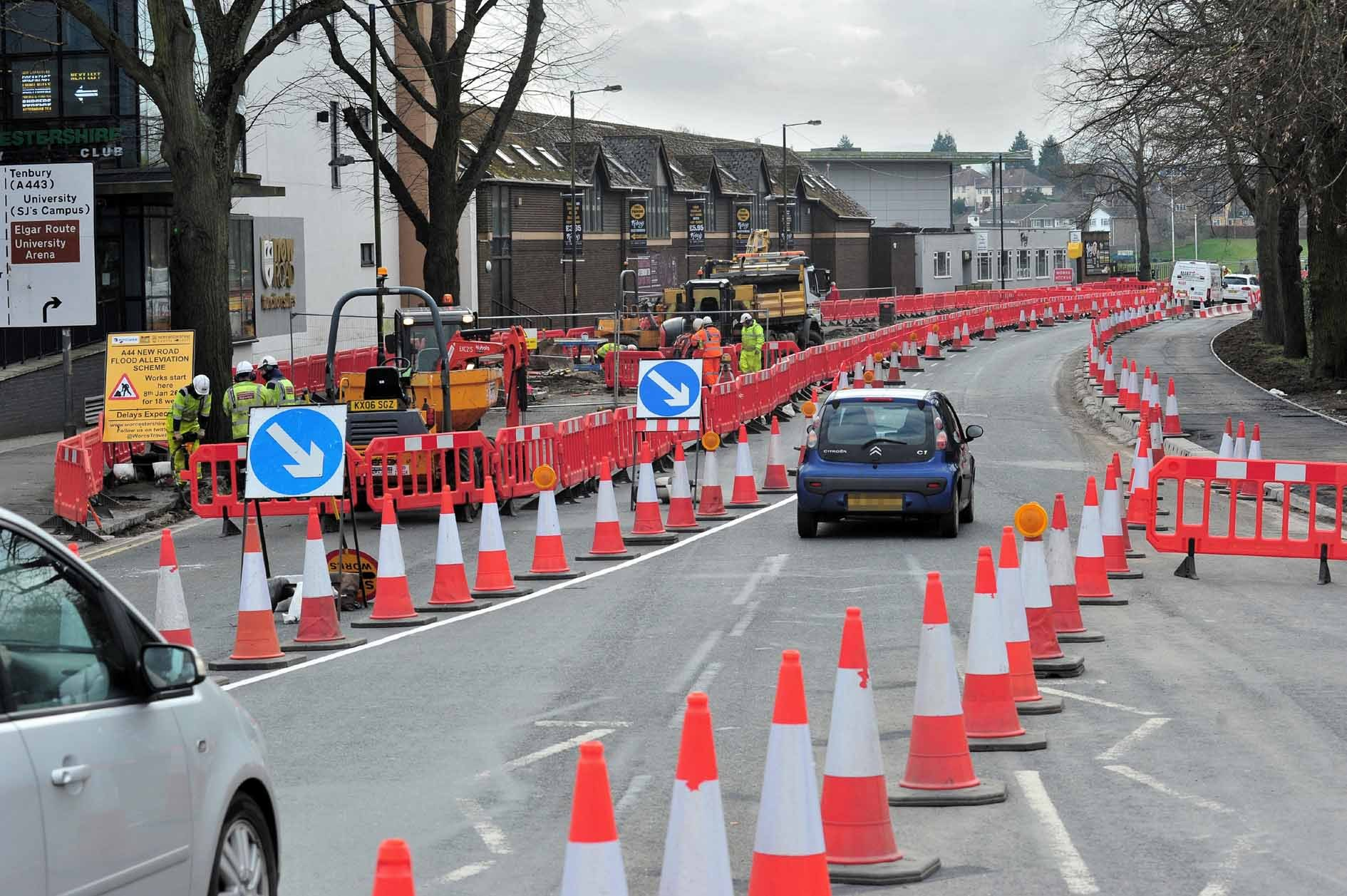 DELAYS: Queues expected on  routes through the city as flood prevention work closes New Road for the weekend.