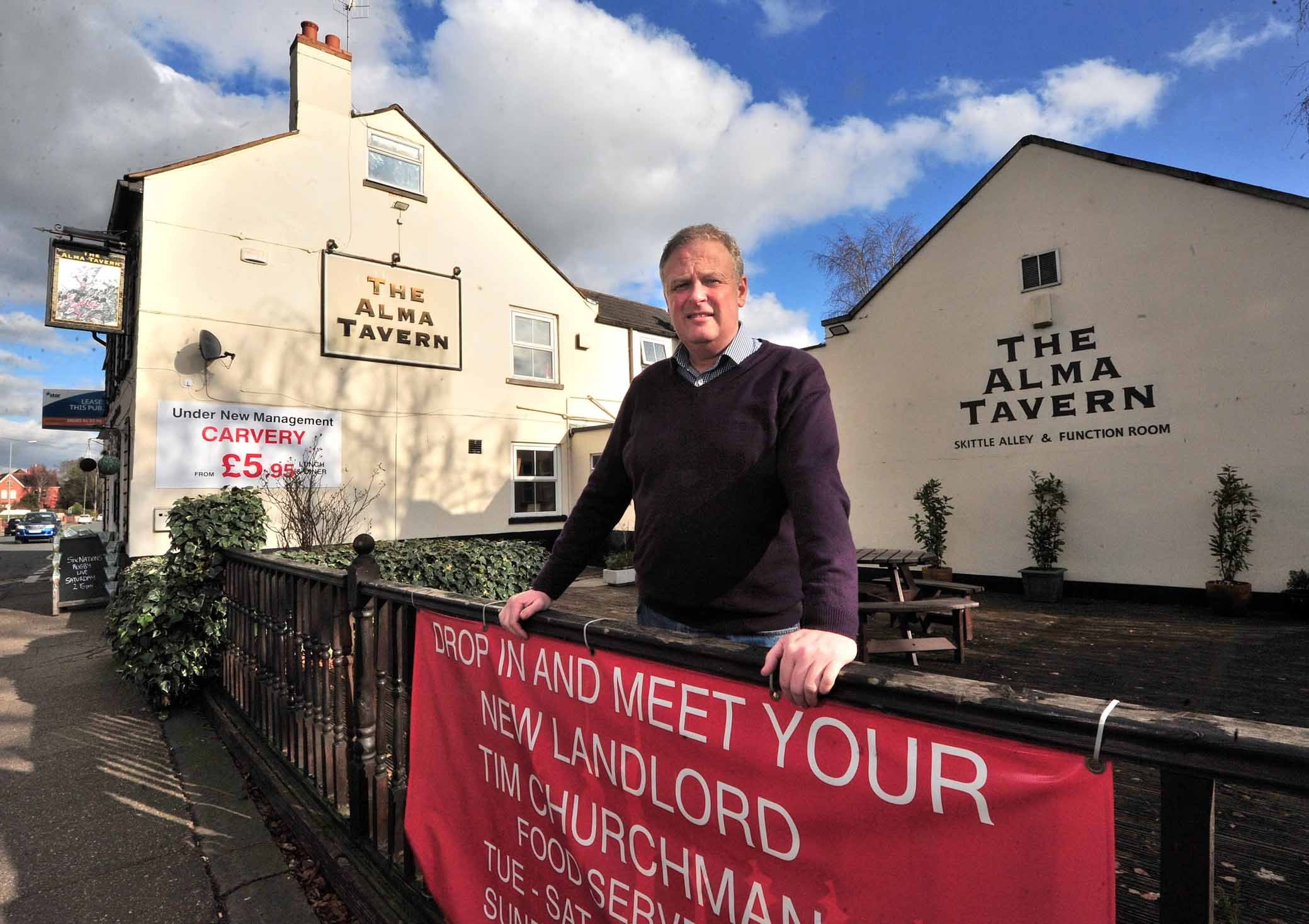 Tim Churchman, Landlord of the Alma Tavern, Droitwich Road, Worcester. Pic Jonathan Barry 5.2.18