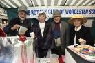 CHEER: Worcester Victorian Market, South Worcester Rotary Club selling mulled wine and mince pies. Picture: David Griffiths