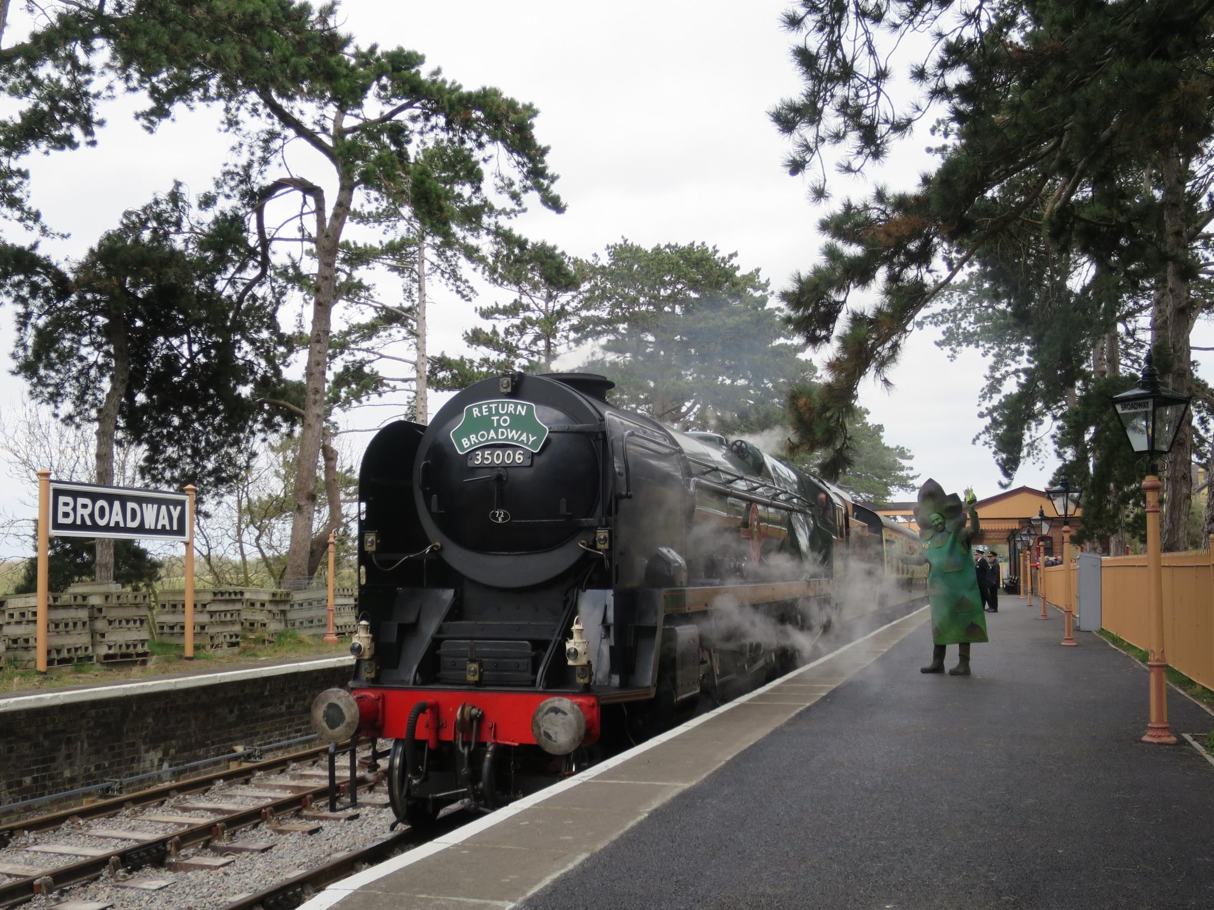 EXPRESS: The Asparagus Express will be steaming along from Broadway to Cheltenham Racecourse on National Asparagus Day. Picture: Angela Taylor.