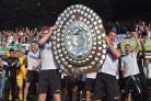 Hereford FC celebrate their title win. Picture: Picture: Will Cheshire