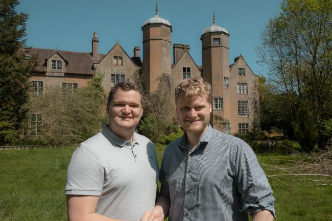 OWNERS: Samuel and Russell Leeds have pledged to restore Ribbesford House to its former glory