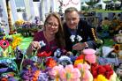 COLOUR: Clare Young's Knitted Garden at Malvern RHS Spring Festival