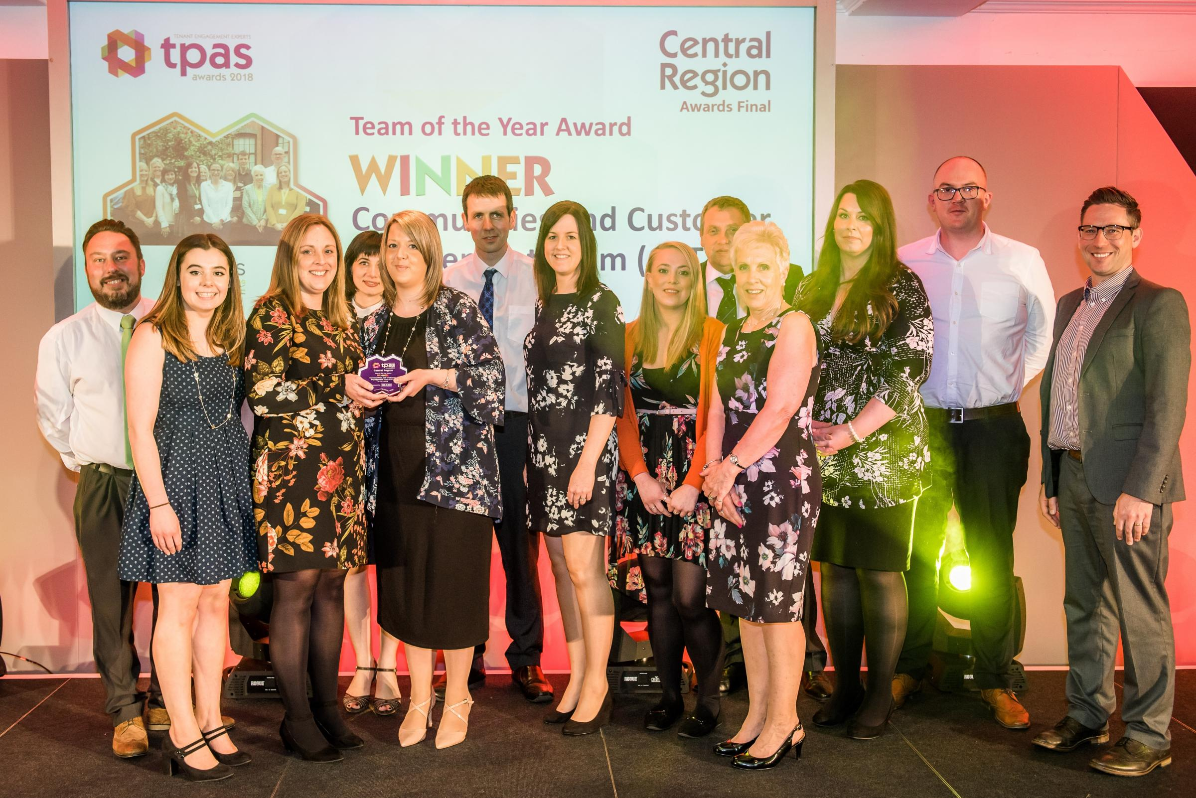 AWARD WIN: Fortis Living has won the central region team of the year at the Tenant Participation Advisory Service Awards