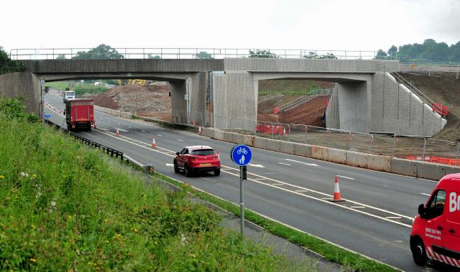 The A4440 Southern Link Road has re-opened after work to replace the rail bridge was completed early. Pic Jonathan Barry 31.5.18