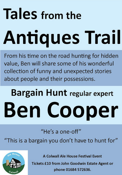 Bargain Hunt's Ben Cooper on the Antiques Trail
