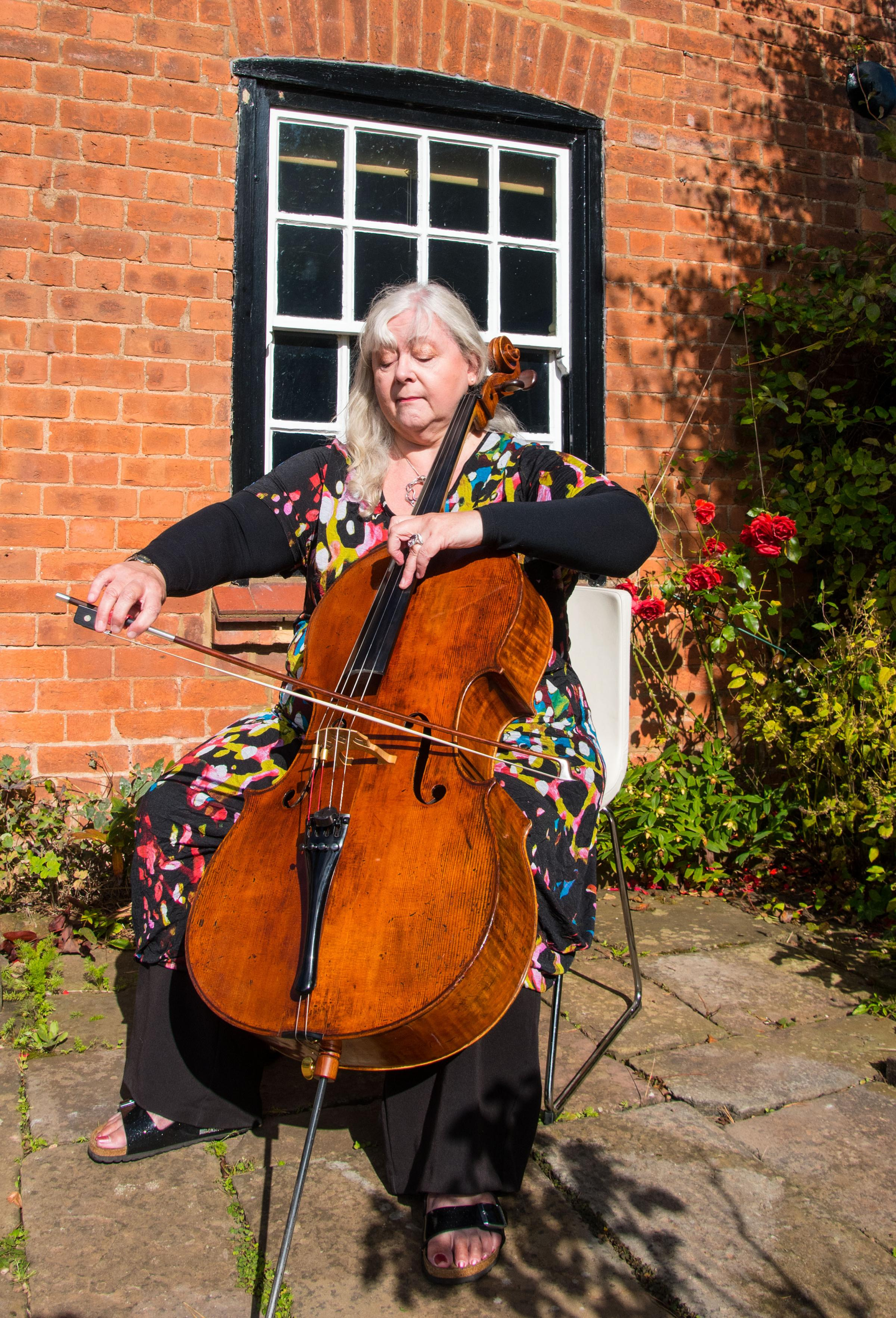 CELLIST: Corinne Frost. Pic by Geoff Hicks.