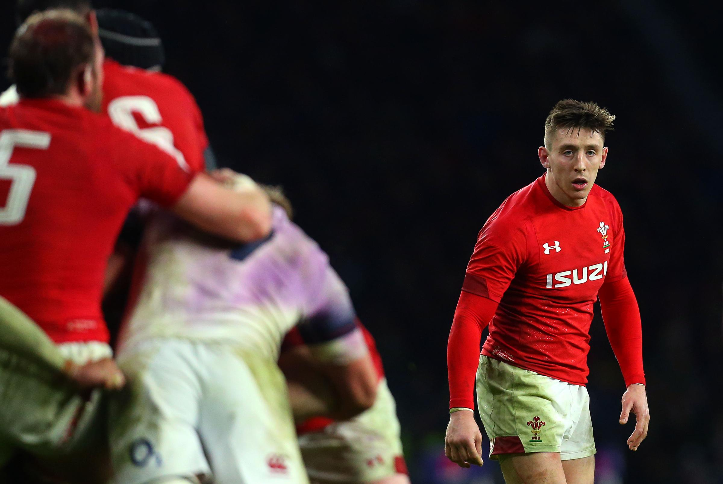 Josh Adams in action for Wales. Picture: Robbie Stephenson/JMP