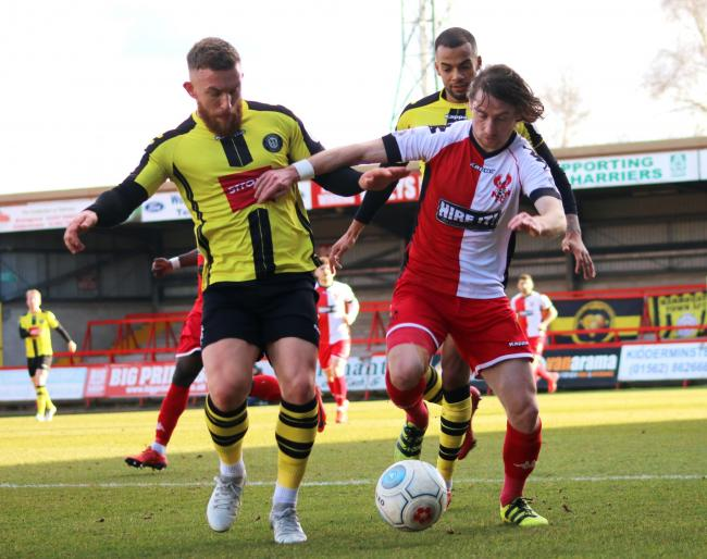 James McQuilkin in action for Harriers. Photo by Adrian Hoskins