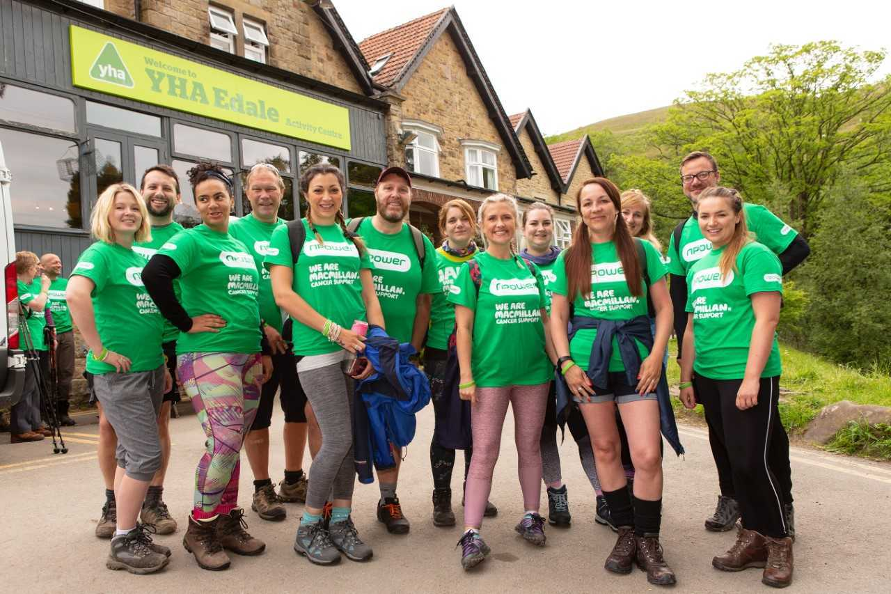 Npower employees complete marathon for Macmillan Cancer Support