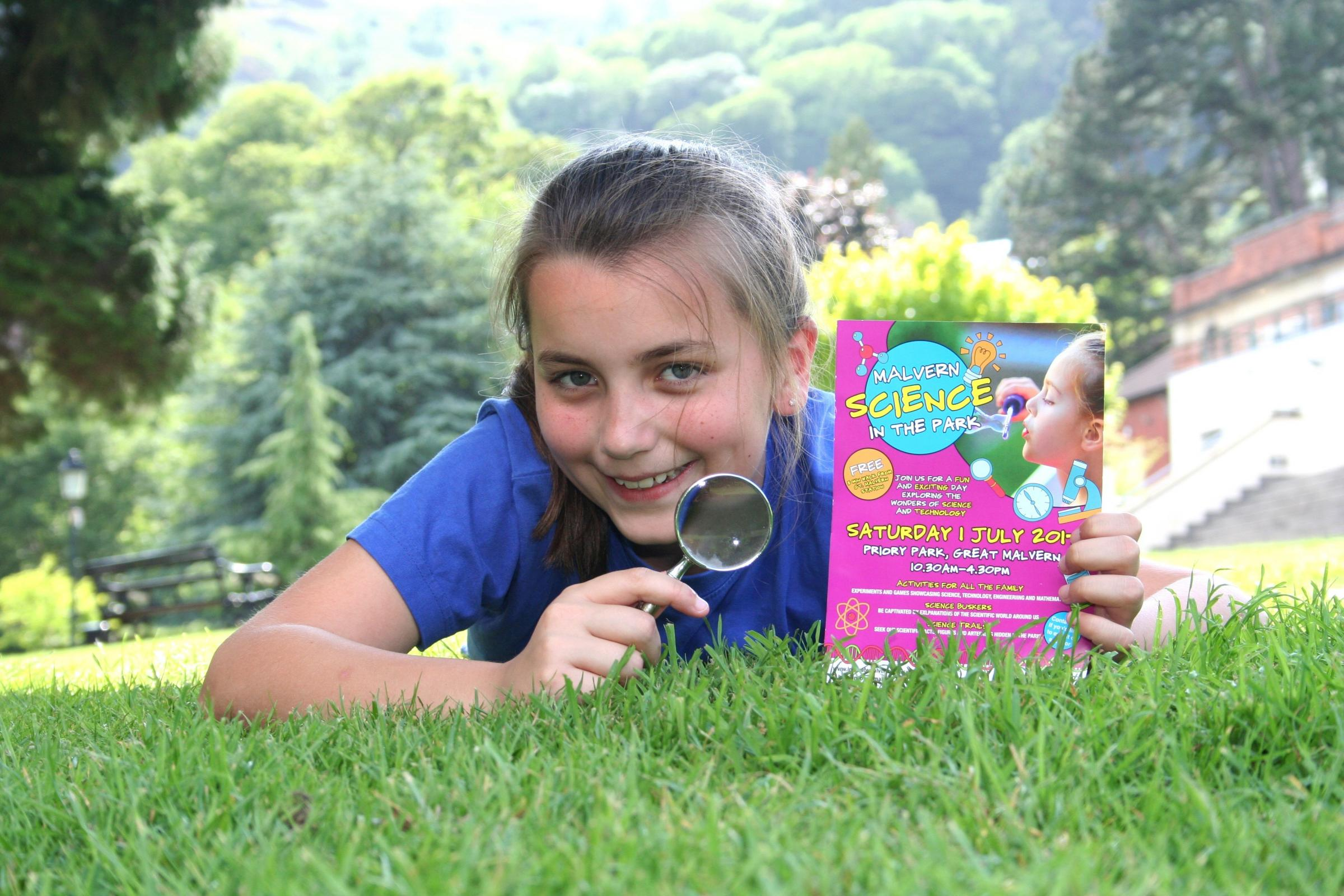Amy Smith on the hunt for clues ahead of Malvern Science in the Park.