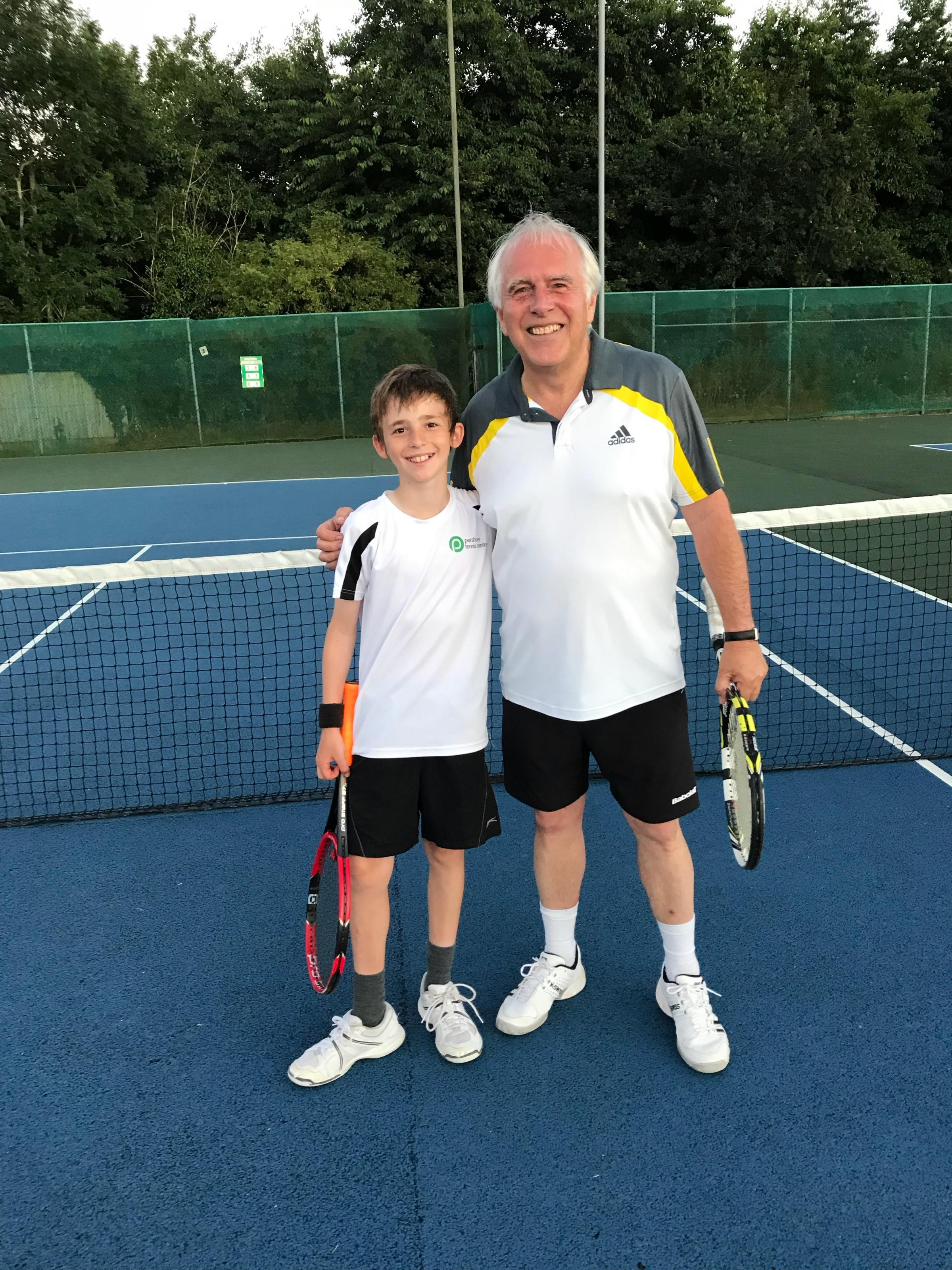 Pershore Tennis Club duo have perfect blend of youth and experience